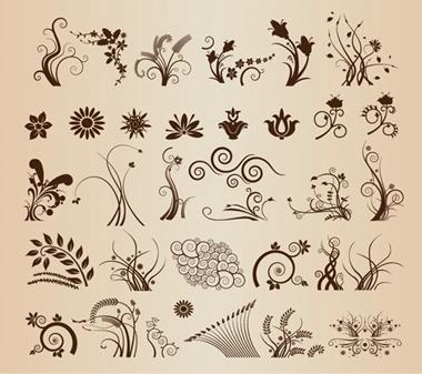 vector,floral,decoration,vectors,swirls,flourish,floral elements,vector floral,wheat stalk vector