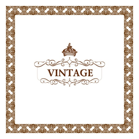 vector,vintage,background,frame,crown,decoration,vectors,decorative,flourish,vintage frame vector