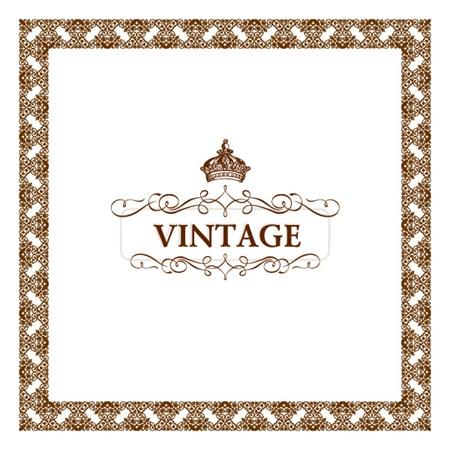 vector,vintage,background,frame,crown,decoration,vectors,decorative,flourish,vintage frame vector