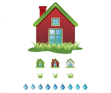 glossy,house,vector,drop,water,grass,vectors,icon,icons,ecology vector
