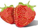 Glossy Strawberry Illustration Vector