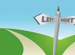 Two Ways Left Right Sign Vector