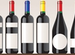 6 Full Red Wine Bottles Vector Set
