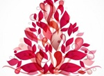 Abstract Christmas Tree Vector Graphic