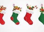 4 Christmas Stocking Vector Set
