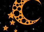 Abstract Moon And Stars Vector