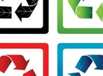 4 Vector Eco Recycle Symbols