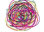 Colorful Scribbles Busyness Concept Vector Graphic