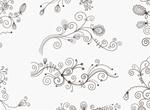 Swirl Floral Decorative Elements Vector Set