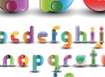 Colorful Alphabet Numbers Vector Fonts
