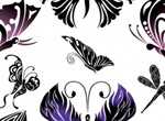 Beautifully Hand Drawn Vector Butterflies
