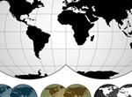 Simple World Map Vector Illustration
