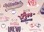 Romantic Valentine's UiElements Vector Set