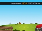 Prairie Farm Landscape Vector