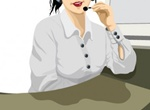 Office Business Woman Vector Illustration