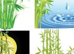 Fresh Green Bamboo Vector Set