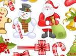 16 Christmas Elements Set Vector