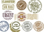 10 Vector Grunge Rubber Stamps