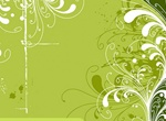 Trend Green Flowers Pattern Vector