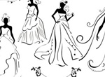 Wedding Dress Bride Vector Silhouettes