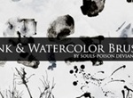 28 Ink And Watercolor Brushes