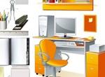 Office Computer Desk Stationary Vectors