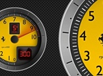 F430 Tachometer Vector Graphic