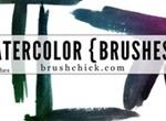 Watercolor Corner Brush Pack