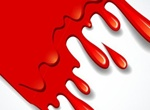 Dripping Red Paint Vector Graphic