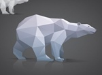 Triangle Polygon Model Bear Vector Graphic