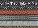 6 Tileable Treadplate Patterns