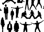 Action People Silhouettes Vector Pack