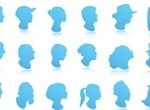 90 Face Profiles Avatar Vector Collection