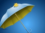 Realistic Opened Umbrella Vector Graphic