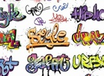 Crazy Colorful Graffiti Words Vector Graphic
