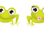 Adorable Baby Frogs Cartoon Vector Graphics