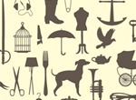 Vintage Victorian Vector Silhouettes Pack