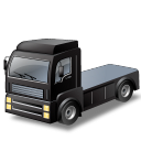 Black, Transportation, Truck Icon