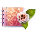 Carnet, Catalog, Flower, Flowers, Love, Lovely, Rose Icon