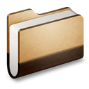 Brown, Folder, Library Icon