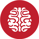 Brain, Games, Red Icon