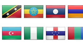 242 Flags Icons