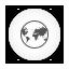 Browser, Round, White Icon