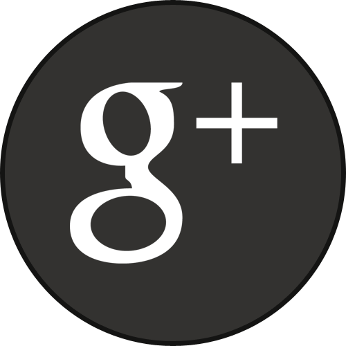 Border, Googleplus, Round, With Icon