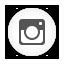 Instagram, Round, White Icon
