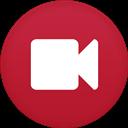 Camera, Circle, Flat, Video Icon