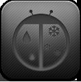 Dark, Weatherbug Icon