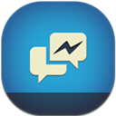 Facebook, Flat, Messenger, Round Icon