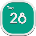 Calendar, Flat, Round Icon