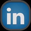 Flat, Linkedin, Round Icon